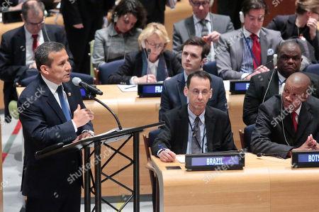 United Nations Ollanta Humala Tasso, President of Peru, speaks while addressing a U.N. special session on global drug policy