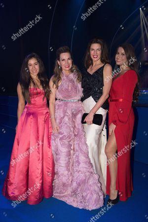 Perrine Falcone, Sonia Falcone, Christina Estrada and her daughter Christina Estrada Juffali