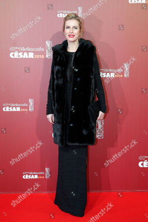 French actress Karine Viard arrives at the 41st French Cesar Awards Ceremony, in Paris, . This annual ceremony is presented by the French Academy of Cinema Arts and Techniques