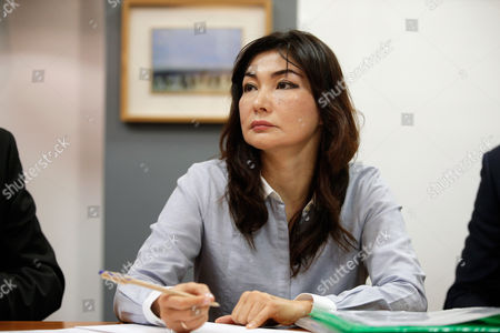 Stock Picture of Kazakh dissident Mukhtar Ablyazov's wife Alma Shalabayeva gives a press conference, in Paris, . The wife and son of a Kazakh banker-turned-dissident are urging France's prime minister to block his pending extradition to Russia, fearing that he would face abuses. Mukhtar Ablyazov, a former Kazakh energy minister who founded an opposition party, is accused of embezzling billions from a bank he founded, BTA