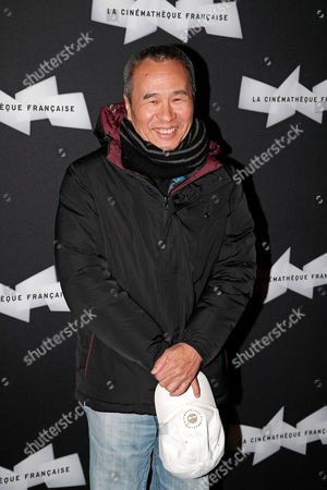 Stock Picture of Taiwanese director Hou Hsiao Hsien poses for photographers prior to a screening of his movie The Assassin at the French Cinematheque, in Paris