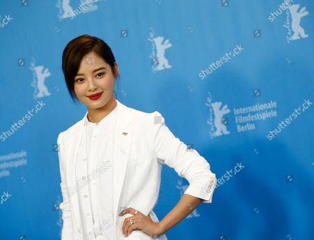 Actress Xin Zhi Lei poses during the photocall for the movie ' Chang Jiang Tu', at the 2016 Berlinale Film Festival in Berlin
