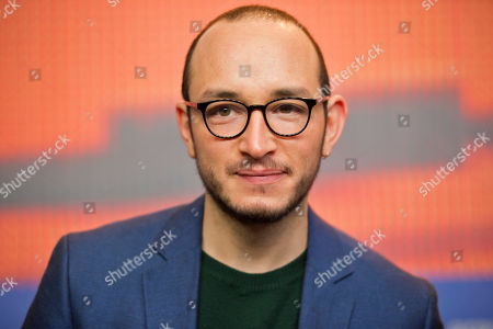 Actor Majd Mastoura attends a press conference for the film 'Inhebbek Hedi' at the 2016 Berlinale Film Festival in Berlin, Germany