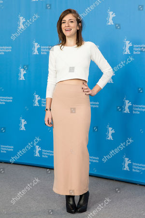 Actress Julieta Zylberberg poses for the photographers during a photo call for the film 'El rey del Once | The Tenth Man' at the 2016 Berlinale Film Festival in Berlin, Germany