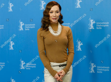 Stock Image of Simone-Elise Girard poses for photographers during a photocall for the film Boris Without Beatrice, at the 2016 Berlinale Film Festival in Berlin
