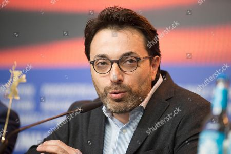 Director Mohamed Ben Attia attends a press conference for the film 'Inhebbek Hedi' at the 2016 Berlinale Film Festival in Berlin, Germany