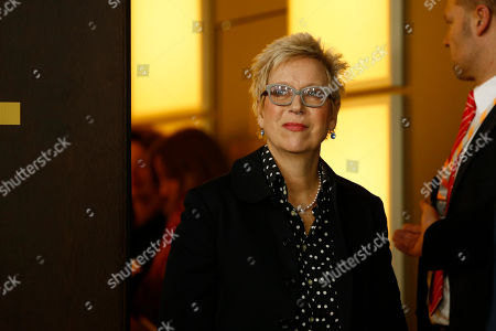 Director Doris Doerrie arrives at a photo call for the film 'Fukushima, Mon Amour' at the 2016 Berlinale Film Festival in Berlin, Germany