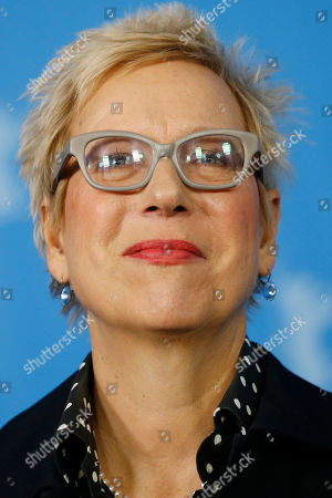 Director Doris Doerrie poses for the photographers during a photo call for the film 'Fukushima, Mon Amour' at the 2016 Berlinale Film Festival in Berlin, Germany