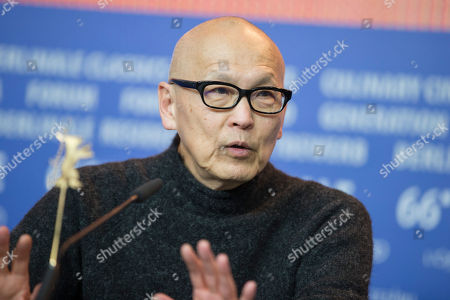 Stock Picture of Director Wayne Wang attends a press conference for the film 'While the Women Are Sleeping' at the 2016 Berlinale Film Festival in Berlin, Germany
