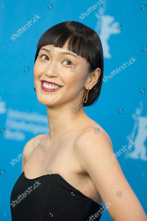 Stock Image of Actress Sayuri Oyamada poses for the photographers during a photo call for the film 'While the Women Are Sleeping' at the 2016 Berlinale Film Festival in Berlin, Germany