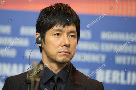 Actor Hidetoshi Nishijima attends a press conference for the film 'While the Women Are Sleeping' at the 2016 Berlinale Film Festival in Berlin, Germany