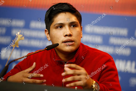Actor Johnny Ortiz attends the press conference for the movie ' Soy Nero', at the 2016 Berlinale Film Festival in Berlin