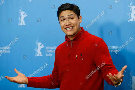 Actor Johnny Ortiz poses for photographers during the photo call for the movie ' Soy Nero', at the 2016 Berlinale Film Festival in Berlin