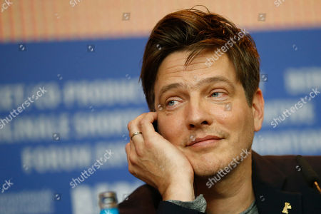 Director Thomas Vinterberg attends the press conference for the movie 'The Commune' at the 2016 Berlinale Film Festival in Berlin, Germany