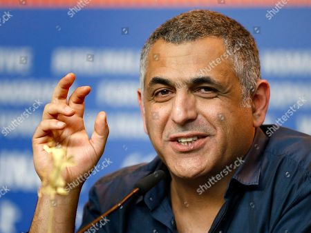 Director Mani Haghighi addresses the media during the press conference for the film 'A Dragon Arrives!' at the 2016 Berlinale Film Festival in Berlin, Germany
