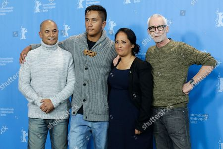 Stock Photo of Actors Temuera Morrison, Akuhata Keefe, Nancy Brunning and director Lee Tamahori, from left, pose for photographers during a photo call for the competition film 'The Patriarch' at the 2016 Berlinale Film Festival in Berlin