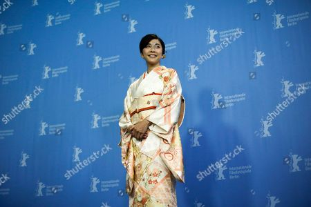 Actress Yuko Takeuchi poses for photographers during a photo call for the film 'Creepy' at the 2016 Berlinale Film Festival in Berlin, Germany
