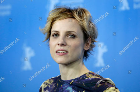 Stock Photo of Actress Julia Kijowska poses for the photographers during a photo call for the film 'United States of Love' at the 2016 Berlinale Film Festival in Berlin, Germany