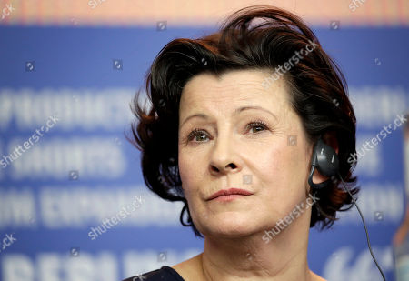Stock Image of Actress Dorota Kolak attends the press conference for the film 'United States of Love' at the 2016 Berlinale Film Festival in Berlin, Germany