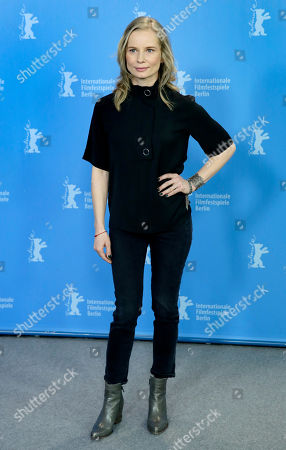 Actress Magdalena Cielecka poses for the photographers during a photo call for the film 'United States of Love' at the 2016 Berlinale Film Festival in Berlin, Germany
