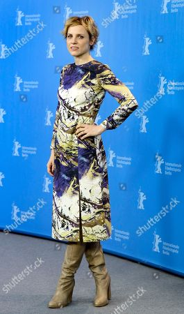 Stock Image of Actress Julia Kijowska poses for the photographers during a photo call for the film 'United States of Love' at the 2016 Berlinale Film Festival in Berlin, Germany