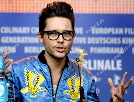 Director Tomasz Wasilewski addresses the media during the press conference for the film 'United States of Love' at the 2016 Berlinale Film Festival in Berlin, Germany