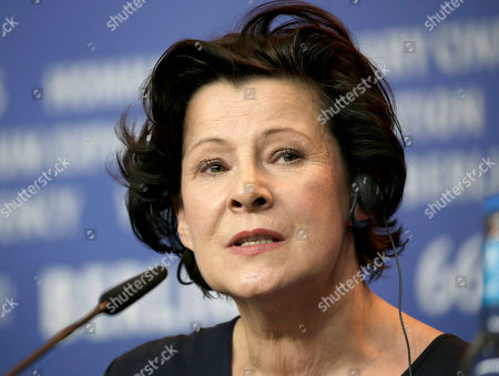Stock Picture of Actress Dorota Kolak speaks during the press conference for the film 'United States of Love' at the 2016 Berlinale Film Festival in Berlin, Germany