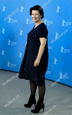 Stock Image of Actress Dorota Kolak poses for the photographers during a photo call for the film 'United States of Love' at the 2016 Berlinale Film Festival in Berlin, Germany