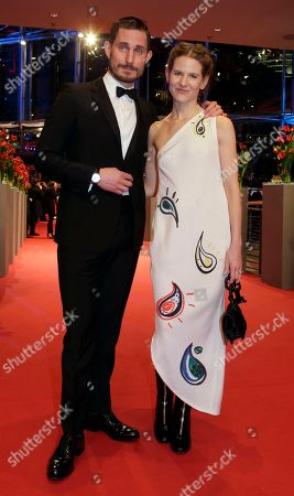 Aino Laberenz and Clemens Schick on the red carpet for the film 'Hail Caesar' at the 2016 Berlinale Film Festival in Berlin
