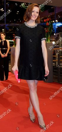 Lavinia Wilson on the red carpet for the film 'Hail Caesar' at the 2016 Berlinale Film Festival in Berlin