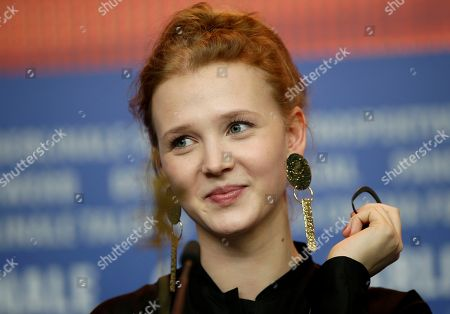 Stock Picture of Actress Isolda Dychauk attends a press conference for the film 'Boris without Beatrice' at the 2016 Berlinale Film Festival in Berlin, Germany