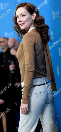 Actress Simone-Elise Girard poses for the photographers during a photo call for the film 'Boris without Beatrice' at the 2016 Berlinale Film Festival in Berlin, Germany