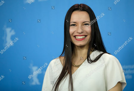 Director Anne Zohra Berrached pose for the photographers during a photo call for the film 'Letters from War' at the 2016 Berlinale Film Festival in Berlin, Germany