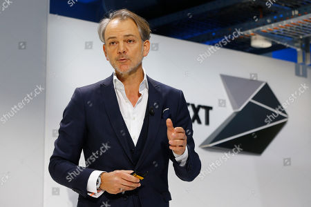 Adrian van Hooydonk, Senior Vice President for Design, of German car manufacturer BMW briefs the media during a news conference prior to the 100th anniversary celebrations in Munich, Germany