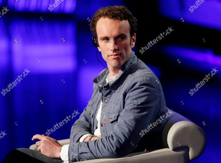 "Elliot Ackerman sits as he attends at the Italian State RAI TV program ""Che Tempo che Fa"", in Milan, Italy"