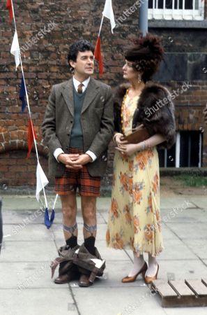 David Ashton and Caroline Blakiston in 'Brass' - Series 1 - 1983