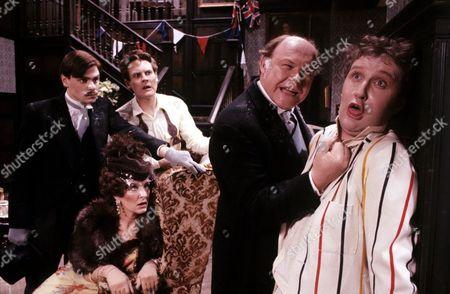 'Brass' - Series 2 - 1984 L-R - Robert Reynolds, Caroline Blakiston, Timothy West and James Saxon.