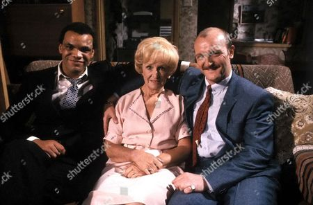 'Brothers McGregor' -  Series 2 - 1986 Wesley [Paul Barber] and Cyril [Philip Whitchurch] with Dolly McGregor [Jean Heywood]