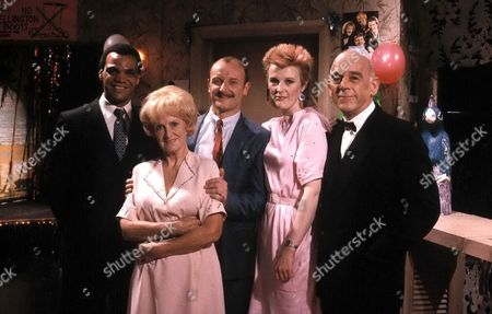 'Brothers McGregor' -  Series 2 - 1986 Wesley [Paul Barber], Dolly McGregor [Jean Heywood], Cyril [Philip Whitchurch], Glenys Pike [Jackie Downey] and Colwyn Stanley [Allan Surtees]