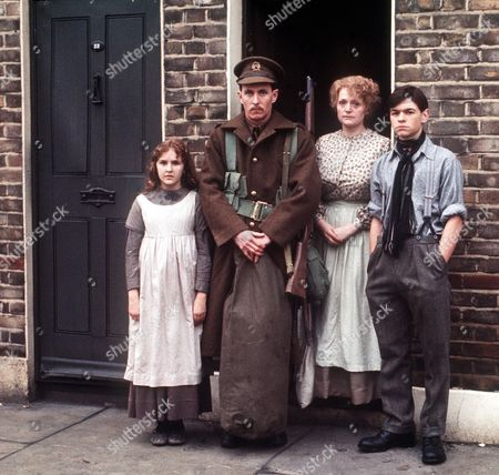 'Holding On' - 1977 Picture shows left to right:  Jayne Twinn, John Nettles, Mary Healey and Jamie Foreman.