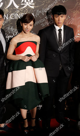 Vivian Sung, Ko Chen-tung Taiwanese actress Vivian Sung, left, and actor Ko Chen-tung pose on the red carpet of the Asian Film Awards in Macau