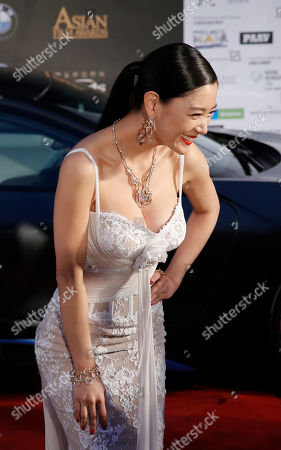 Clara Lee Sung-min South Korea model-actress Clara Lee Sung-min poses for photographers upon arrival at the Asian Film Awards in Macau