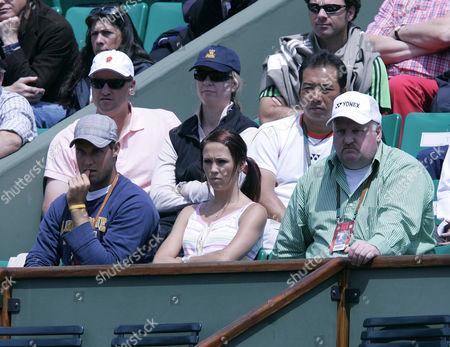 Rebecca Cartwright watches Lleyton Hewitt
