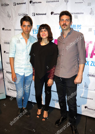 "Stock Picture of The actor Armando Espitia, left, actress and writer Sofia Espinosa and director and writer Maz Zunino, right, of the Mexican movie ""Los Banistas"" pose for a portrait in Mexico City. The movie is a story about solidarity between a young woman who cannot study due to a strike at a university and an old salesman who is fired from his job. The movie premiers on March 31 in Mexico"