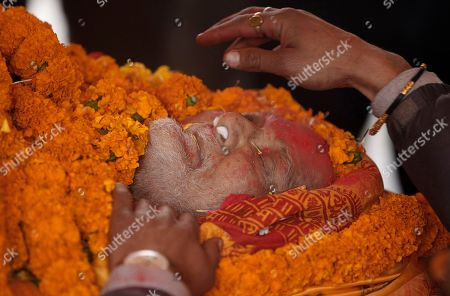 Sushil Koirala Former Nepalese Prime Minister Sushil Koirala's body is decorated in flowers as it lies in state at the Nepali Congress central office in Kathmandu, Nepal, . Koirala, who was a key figure in the drafting and adoption of the country's new constitution in 2015, died Tuesday at the age of 78