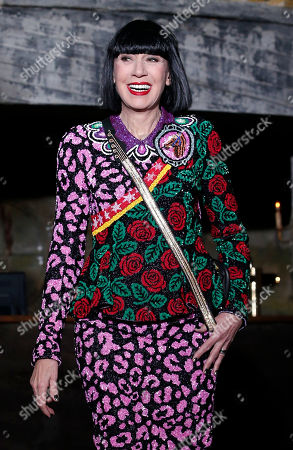 Chantal Thomas French fashion designer Chantal Thomas wears a creation for Manish Arora's Fall-Winter 2016-2017 ready to wear collection, in Paris
