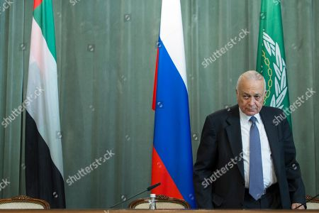 Nabil Elaraby Arab League's Secretary-General Nabil Elaraby arrives to attend his Russian Foreign Minister Sergey Lavrov and United Arab Emirates Foreign Minister Abdullah bin Zayed Al Nahyan news conference after the Russian-Arab Cooperation Forum in Moscow, Russia