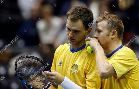 Editorial image of Serbia Kazakhstan Davis Cup Tennis