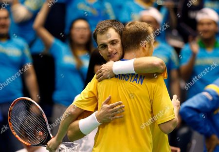 Editorial photo of Serbia Kazakhstan Davis Cup Tennis