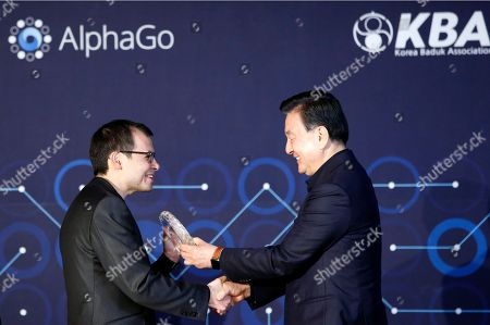 Emis Hassabis, Hong Seok-hyun Google DeepMind CEO Demis Hassabis, left, receives a trophy from Korea Baduk (Go) Association Chairman Hong Seok-hyun during an award ceremony for the Google DeepMind Challenge Match in Seoul, South Korea, . Google's Go-playing computer program again defeated its human opponent in a final match on Tuesday that sealed its 4:1 victory